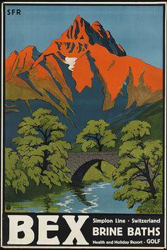 Switzerland  #vintage #travel #poster