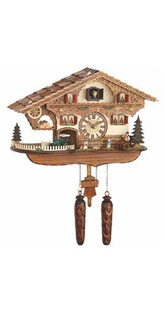 Quartz Cuckoo Clock Swiss House with Music by Trenkle