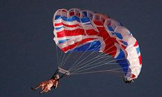 Great opening ceremony for Olmpics London 2012, including the 'Queen' parachuting into the stadium