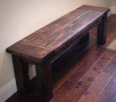 Farmhouse Bench for entryway!  Can't wait to make this and decorate it for the holidays!