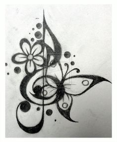 *I can't choose between this or the other treble butterfly tat as the second tattoo. I can't decide on placement either - maybe hip or stomach?*