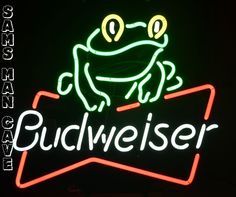 Sam's Man Cave - Budweiser Frog Neon