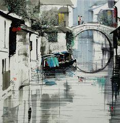 Wu Guanzhong pintura Estaciones: ¿cómo es tan hermoso? Es tan hermoso! _ _ Tencent gran red de Guangdong