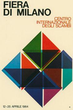 manifesto ufficiale della Fiera Campionaria di Milano, Studio CBC (1964)
