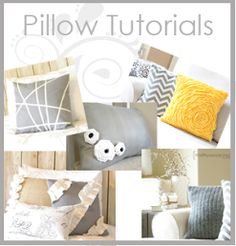 9 pillow tutorials-rosettes, ribbons, sweaters, ruffles