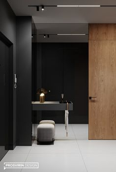 Hall Interior Design, Corridor Design, Restaurant Interior Design, Home Room Design, Interior Architecture, House Design, Wall Design, Casa Milano, Modern Villa Design
