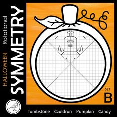Your students will have lots of fun with these rotational symmetry tasks. 4 DIFFERENT PICTURES ♦ Tombstone ♦ Pumpkin ♦ Cauldron and Broomstick ♦ Candy 4 DIFFERENT TEMPLATES ♦ Reflect then rotate ♦ Rotate ♦ Classroom Resources, Math Classroom, Maths, Rotational Symmetry, Print Templates, Coffin, Reflection, Students, Messages