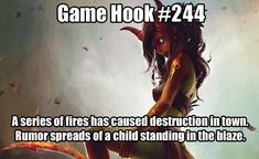campaign ideas Hook by frankemann . An arsonist is bad enough, uncontrolled magic is much worse. Next Steps: Is this child the cause Are the fires deliberate Dungeons And Dragons Game, Dungeons And Dragons Homebrew, Dnd Dragons, Halloween Hacks, Dnd Stories, Pen & Paper, Dungeon Master's Guide, Dnd Funny, Dnd 5e Homebrew