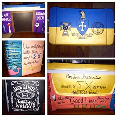 Sigma chi fraternity formal cooler College  Sorority ideas Craft diy paint cooler