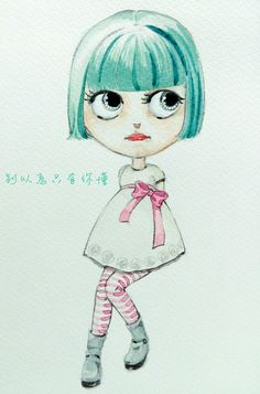 My painting blythe doll