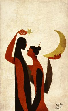 """illustration by Riccardo Guasco. I want to say something about """"My Moon and Stars"""" here. Oh GoT how I miss you!"""