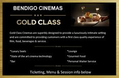 Bendigo Cinemas: Gold Class