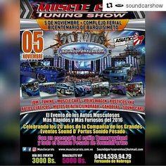 """#Repost @soundcarshow with @repostapp  La Cita Es En Barquisimeto El 05 De Noviembre... """"MUSCLECARS & ASIATIC-FEST"""" Alli Nos Vemos... El Evento De Los Vehiculos Mas Musculosos De Venezuela... Produce @sounddportuseventos En Sus 20 Años En El Mundo De Los Grandes Eventos.  #follow #soundcarshow #jdm #car #sportscar  #turbo #teamcars #speed #race #racing #wheels #rim #piques #caraudio #soundcar #hornocity #mcbo #cabimas #ciudadojeda #zulia #mcbocity #igersmaracaibo #igersvenezuela #maracaibo…"""