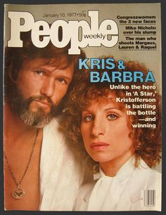 1977 People Magazine Cover ~ Barbra Streisand, Kris Kristofferson  A Star is Born