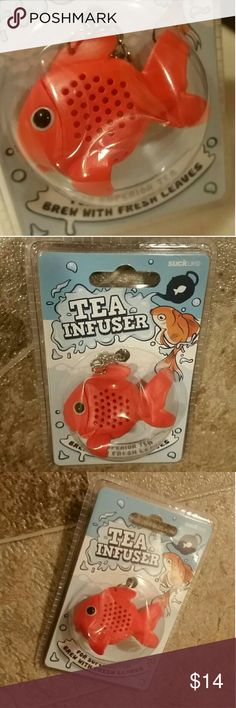 Tea Infuser - Goldfish - NEW Tea Infuser - Goldfish - NEW in original package. Package is a bit pushed/bent in but it doesn't affect the infuser one bit. Use this to brew your tea with loose tea leaves. This infuser is food grade safe. Very cute and perfect for you or a tea lover!! Other