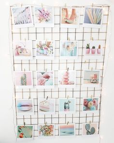 DIY wire memo board in the master bedroom
