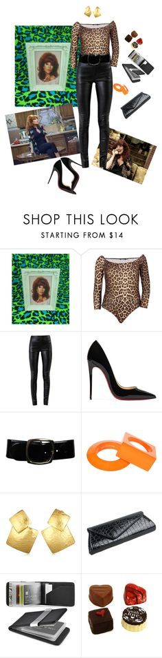 """4/50 Peggy Bundy"" by muffinsangria ❤ liked on Polyvore featuring Helmut Lang, Christian Louboutin, Chanel, Maison Margiela, Oscar de la Renta, Zodaca and Dylan's Candy Bar"