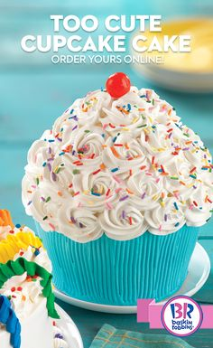 Looking for a fun new way to celebrate your special occasion? How about a giant cupcake made with your favorite cake and ice cream flavors? Customize the Too Cute Cupcake Cake online or pick one up in-shop today!