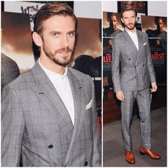 Dan Stevens in Thom Sweeney http://www.whats-he-wearing.com/2014/09/dan-stevens-wears-thom-sweeney-suits-screenings-the-guest-a-walk-among-the-tombstones.html