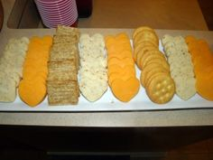 Heart Shaped Cheese & Crackers for valentine school snack! Maybe even heart shaped pepperoni <3