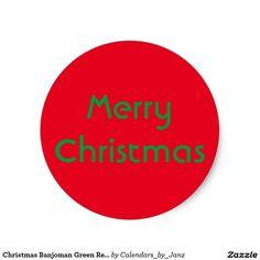 Shop Christmas Banjoman Green Sticker by Janz created by Calendars_by_Janz. Christmas Stickers, Sticker Design, Create Your Own, Merry Christmas, Calendar, Graphic Design, Green, Banjo, Magazine