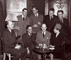 The founding members of the Algonquin Round Table partying