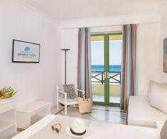 Sea View Rooms | Samaina Inn Hotel | Karlovasi Samos Samos, Double Room, Family Room, Curtains, Sea, Home Decor, Blinds, Decoration Home, Room Decor