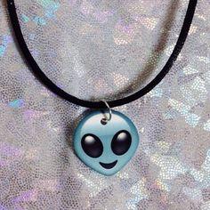 Items similar to Emoji Choker / Alien Choker / Choker / Emoji Necklace / Alien Charm on Etsy Emoji Jewelry, Alien Aesthetic, Emoji Love, Charm Jewelry, Choker Jewelry, Ring Necklace, Tumblr, Outfit, Chokers
