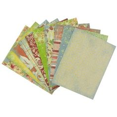 "Linen Door Box of Cards set features 50 cards in stylish, floral patterns and tones. Perfect for making an impression on their own, they can also be embellished to add your own personal touch to create greeting cards, invitations and more.    	The acid-free cards measure 5 1/2"" wide x 4 1/4"" tall and come with 50 white envelopes."