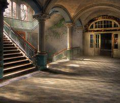 3D Treppen, Halle 452 Fototapeten Wandbild Fototapete Bild Tapete Familie Kinder