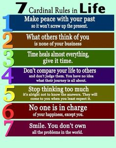 7 Cardinals Rules in Life