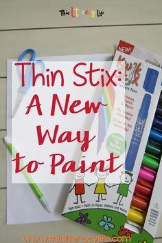 Thin Stix:  The Amazing New Painting Tool!