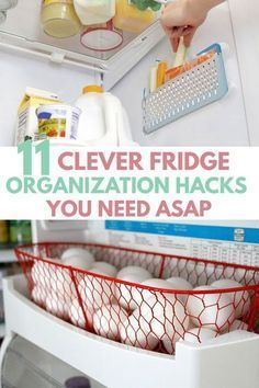 Awesome DIY FREEZER REFRIGERATOR ORGANIZATION HACKS, makeover ideas for extra storage space. All fits perfect with dollar store containers, bins, mason jars in small apartment mini fridge, side by side / French door fridge. Organisation Hacks, Organizing Hacks, Storage Hacks, Organizing Your Home, Diy Storage, Storage Organization, Cleaning Hacks, Extra Storage, Diy Hacks