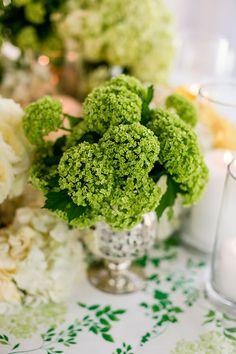 Low Hydrangea Centerpieces | Brides.com