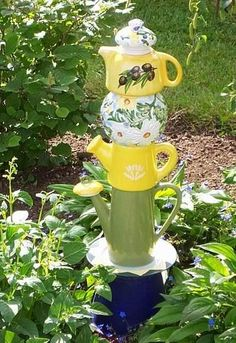 Tea pot tower
