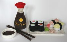 Sushi set pattern by Christel Krukkert