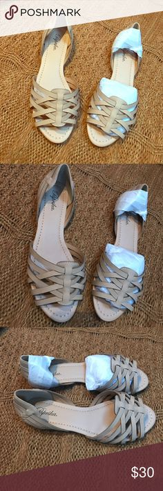 NEW Beige/natural Sandals Brand new! Size 9 Paprika Shoes Sandals