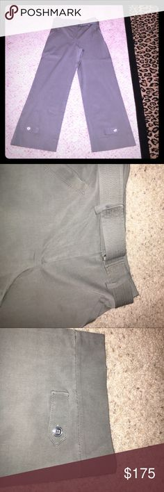 WORTH New York Pants Excellent condition khaki green size 0. Attached belt wide leg ankle pants. 66% Lyocell31% cotton 3% elastic. The waist measures 14 inches across and the inseam measures 28 inches Worth Pants Ankle & Cropped