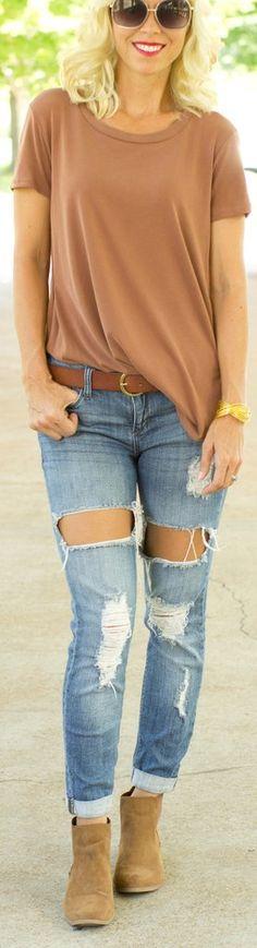 Rust color high-low blouse – CS Gems