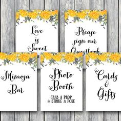 dandelion-wedding-signs-bridal-shower-signs-yellow-floral-th18