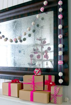 felt ball garland, so cute!