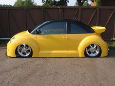 VW Beetle yellow NO WAY-NO HOW'!!!