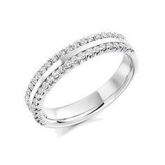 Raphael Platinum & 0.50ct Round Brilliant Cut Diamond Wedding Ring