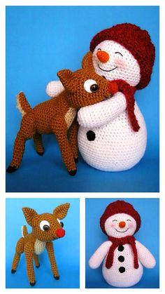 Crochet Snowman, Christmas Crochet Patterns, Crochet Christmas, Crochet Toys Patterns, Amigurumi Patterns, Stuffed Toys Patterns, Afghan Patterns, Christmas Knitting, Amigurumi Toys