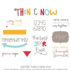 Vector Then & Now {CU} by Miss Tiina