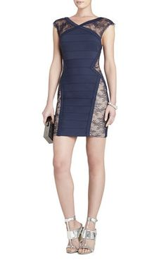The man picked this out for me looking forward to rocking it Jess Lace-Yoke Short Dress. BCBG MAX AZRIA