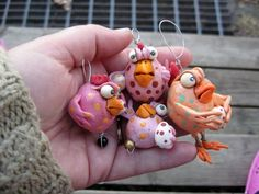 Polymer Clay Chicks | Pissed of chick with PMS for easter | polymer clay