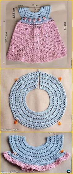 Crochet Girls Dress Free Patterns & Instructions