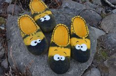 Handmade Bee slippers