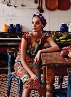 IN LIVING COLOUR: DENISA DVORAKOVA BY NICOLE BENTLEY FOR MARIE CLAIRE AUSTRALIA MARCH 2013